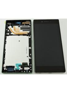 LCD displej + dotyková plocha + rám silver originál Sony Z5 compact